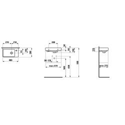 LAUFEN PRO S 48x28 pravé