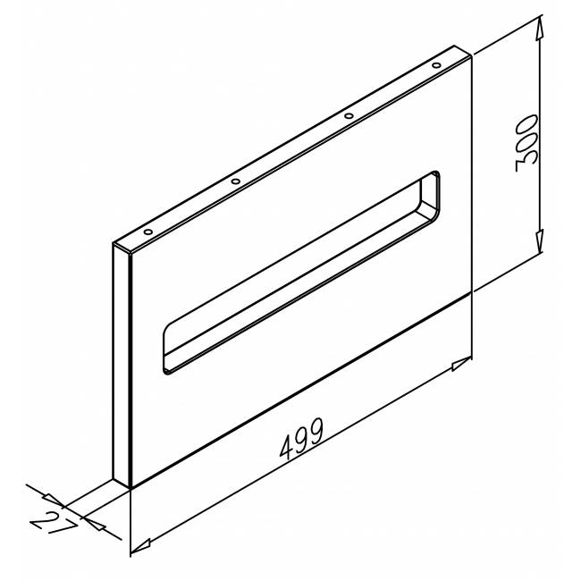 podperaELEMENT 1727x300x500,dubový masív