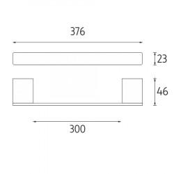 vešiak na uterákK376, chróm, 376x23x46, 1ks