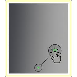 dotykový vypínač pod zrkadlo