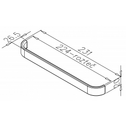 úchytkaRecife 2, chróm, 231x20x26, 1ks