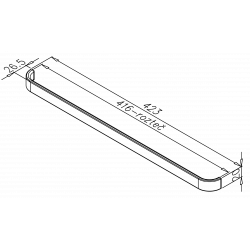 úchytkaRecife 2, chróm, 423x20x26, 1ks