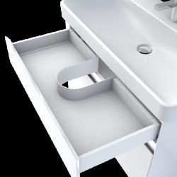 Krytka sifónu do zásuvky, plastová biela