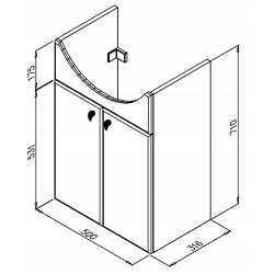 TANJALýra Plus 55Dverová