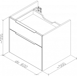 skrinkaTHINBEZ HDdo 600mmdvoj-zásuvka