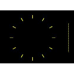 zrkadlo THIN kruhové LED v čiernom rámiku D800