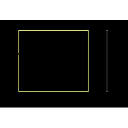 Zrkadlo THIN ALU LED v hliníkovom rámiku do 800x700