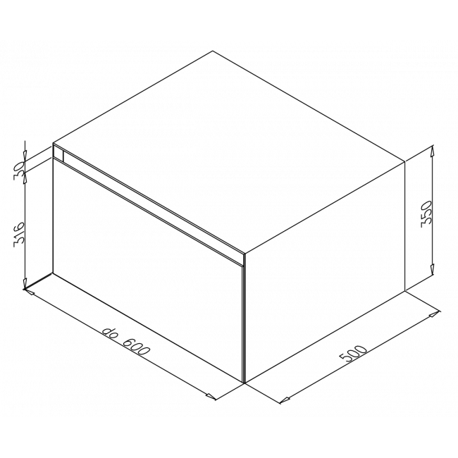 ELEMENT 13do600x350x500HDjedno-zásuvka