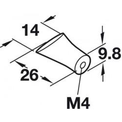 úchytkaSLZA 2, chróm, 14x10x26, 1ks